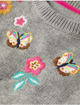 Embroidered Yoke Sweater by Boden