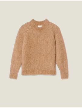 Round Neck Sweater With Raglan Sleeves by Sandro Paris