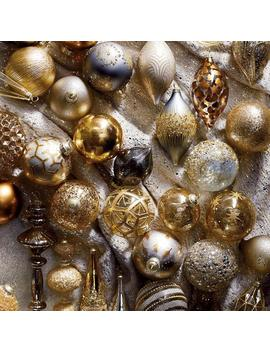 60 Piece Precious Metals Ornament Collection by Frontgate