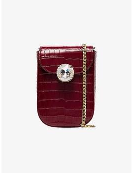 Red Bandoliera Crystal Embellished Bag by Miu Miu