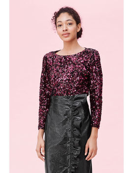Stretch Sequin Top by Rebecca Taylor