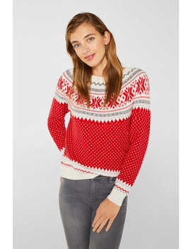 Mit Wolle: X Mas Norweger Pullover by Esprit