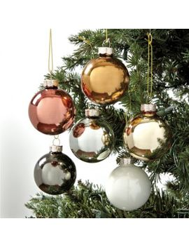 Mixed Metals Glass Ornaments   Set Of 12 by Ballard Designs