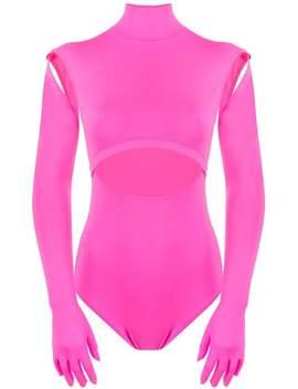 Vetements          Cutout Gloves Bodysuit by Vetements
