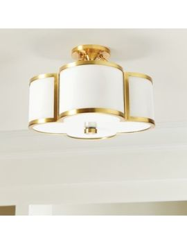 Mimi Quatrefoil Ceiling Mount by Ballard Designs