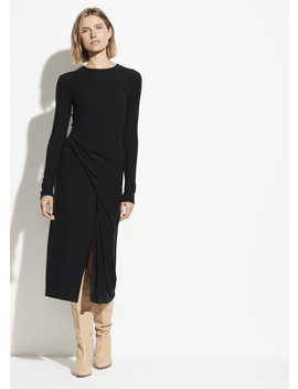 Long Sleeve Draped Dress by Vince