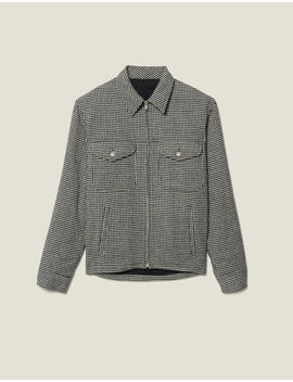 Houndstooth Wool Jacket by Sandro Paris
