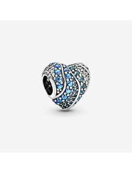 Blue Water Heart Charm by Pandora