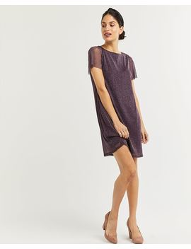 Short Sleeve Shimmer T Shirt Dress by Reitmans