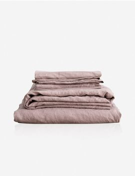 Cultiver Linen Bedding, Dusk Sheet Set by Lulu & Georgia