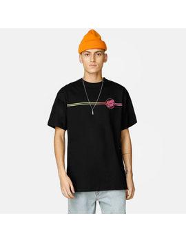 T Shirt   Opus Dot Stripe Fade by Santa Cruz