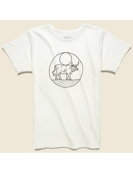 Moon Bull Tee   White by House Of Land