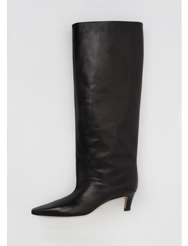 The Wide Shaft Boot Black by Toteme