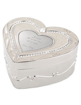 Regal Elegance Heart Keepsake Box With Crystals by Things Remembered