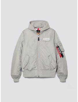 Playboy X Alpha All Over Ma 1 Hooded Flight Jacket by Alpha Industries