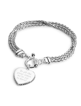Braided Heart Bracelet by Things Remembered