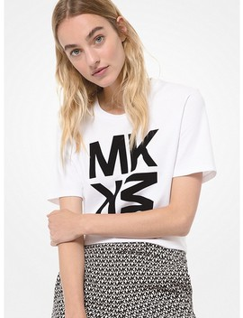 Graphic Logo Cotton Jersey T Shirt by Michael Michael Kors