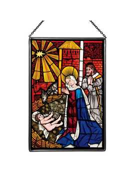 The Nativity Glass Panel by The Metropolitan Museum Of Art