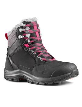 Quechua X Warm Mid Women's Snow Hiking Shoes Sh520   Black by Quechua