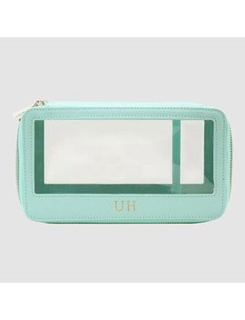 Soft Turquoise Clear Travel Case         Soft Turquoise Clear Travel Case by Tde.