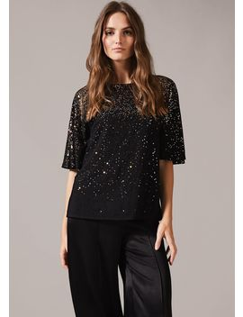 Sequin Sparkle Blouse by Phase Eight