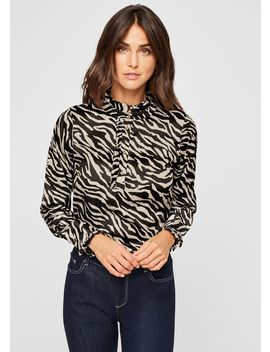 Aimee Zebra Print Blouse by Phase Eight