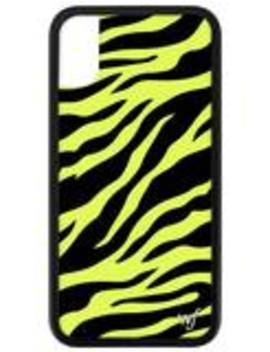 Neon Zebra I Phone X/Xs Case by Wildflower Cases