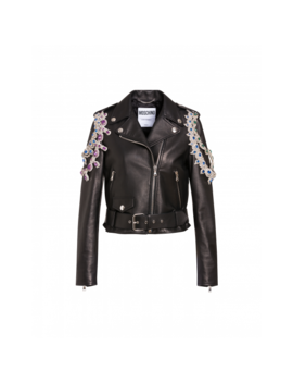 Nappa Biker With Necklaces by Moschino