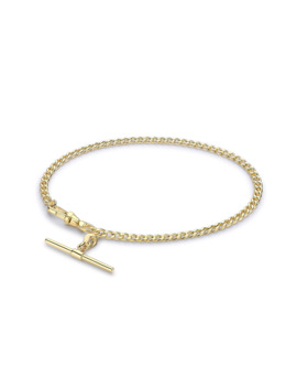 "9ct Yellow Gold 7.5"" T Bar Bracelet by Goldsmiths"