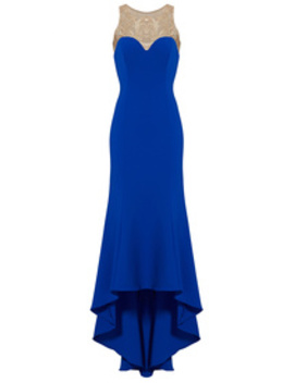 Royal Blue High Low Gown by Marchesa Notte