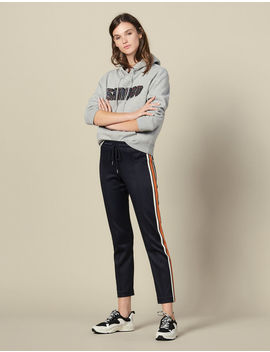 Jersey Jogging Bottoms With Stripes by Sandro Paris