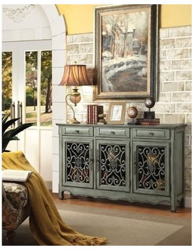 Coaster Accent Cabinets Traditional Accent Cabinet In Antique Green Finish by Coaster Home Furnishings