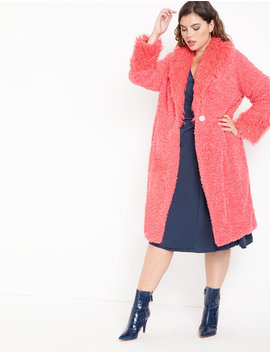 Drama Faux Fur Coat by Eloquii