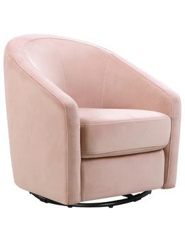 Madison Swivel Glider In Blush Pink Velvet by Babyletto