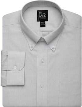 Traveler Collection Tailored Fit Button Down Collar Dress Shirt by Jos. A. Bank