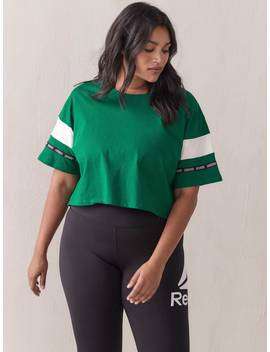 Wor Myt Cropped Green T Shirt   Reebok Wor Myt Cropped Green T Shirt   Reebok by Addition Elle