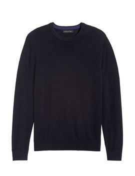 Italian Merino Crew Neck Sweater by Banana Republic