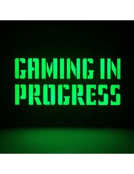 Gaming In Progress A5 Lightbox by Men Kind
