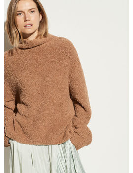 Teddy Funnel Neck Pullover by Vince