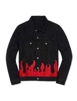 Flames Black Denim Jacket by The Metropolitan Museum Of Art