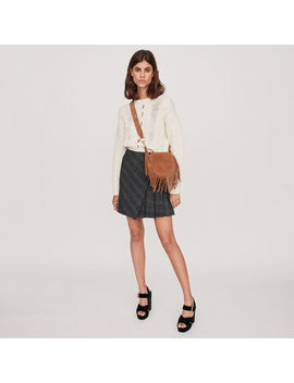 Pleated Short Skirt With Checks by Maje