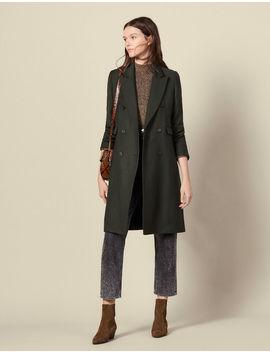 Long Wool Coat by Sandro Paris
