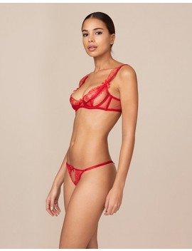 Willa Red Thong by Agent Provocateur