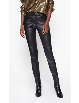 Sylvanna Leather Front Trouser by Equipment
