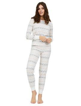 2 Piece Fair Isle Waffle Velour Pyjama Set by Suzy Shier