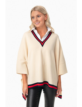 Cream Camden Soft Sweater Poncho by Tuckernuck
