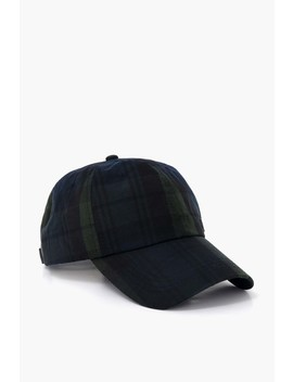 Blackwatch Darwen Tartan Sports Cap by Barbour