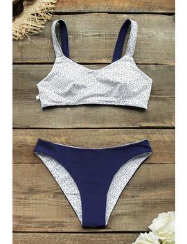 Deep Blue Reversible Bikini by Cupshe