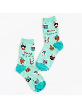 Meowy Christmas Socks by Paper Source