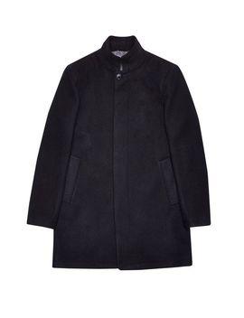 Black Faux Funnel Neck Coat by Burton
